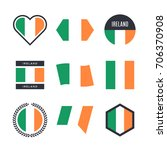 ireland flag vector icons and... | Shutterstock .eps vector #706370908