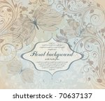 vintage floral background | Shutterstock .eps vector #70637137
