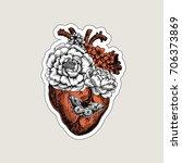 tattoo anatomy vintage... | Shutterstock .eps vector #706373869