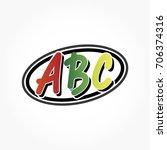 abc logo vector in red green... | Shutterstock .eps vector #706374316