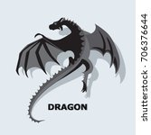 flying dragon. mythical animal. ... | Shutterstock .eps vector #706376644