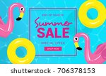 summer sale banner vector... | Shutterstock .eps vector #706378153