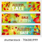 sales banner with multicolor... | Shutterstock .eps vector #706381999