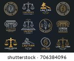 law office logotypes set with... | Shutterstock .eps vector #706384096