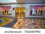 Small photo of LA SPEZIA, ITALY, AUGUST, 18, 2017 - Alcott store, italian fashion brand in a shopping center of La Spezia, Italy.