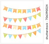 colorful bunting for decoration ... | Shutterstock .eps vector #706390024