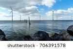 windmill park westermeerwind... | Shutterstock . vector #706391578