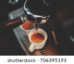 espresso shot with coffee... | Shutterstock . vector #706395193