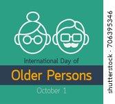 international day of older... | Shutterstock .eps vector #706395346