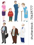 diversity of people vector | Shutterstock .eps vector #70639777