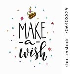 congratulations make wish...   Shutterstock .eps vector #706403329