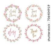 bridal shower badge team bride... | Shutterstock .eps vector #706404919