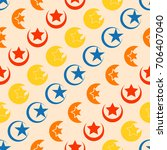 seamless pattern with symbol of ... | Shutterstock .eps vector #706407040