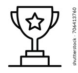trophy vector icon | Shutterstock .eps vector #706413760