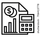 budget accounting vector icon | Shutterstock .eps vector #706413778