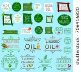 big vector set of different... | Shutterstock .eps vector #706416820