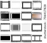 set of film frame  ...   Shutterstock . vector #706417828