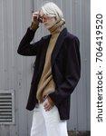 facial shooting  street style... | Shutterstock . vector #706419520