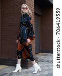 facial shooting  street style... | Shutterstock . vector #706419559