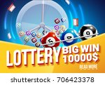 lottery banners with realistic... | Shutterstock .eps vector #706423378