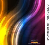 glowing abstract background for ... | Shutterstock .eps vector #706425370