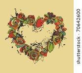 floral heart | Shutterstock . vector #70642600