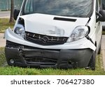 van after traffic accident | Shutterstock . vector #706427380