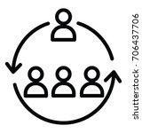 workforce organization vector... | Shutterstock .eps vector #706437706