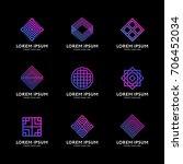 simple geometry shape logo... | Shutterstock .eps vector #706452034
