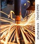 motion welding robots in a car... | Shutterstock . vector #706453990
