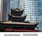 contrast of modern buildings...   Shutterstock . vector #706455490