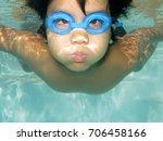 underwater healthy active young ... | Shutterstock . vector #706458166