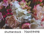 beautiful flower with cinematic ... | Shutterstock . vector #706459498
