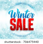 winter sale vector banner with... | Shutterstock .eps vector #706475440