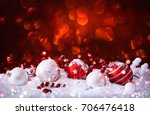 christmas decorations with... | Shutterstock . vector #706476418