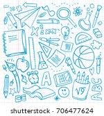 back to school vector pattern...   Shutterstock .eps vector #706477624