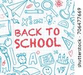 funny banner back to school...   Shutterstock .eps vector #706477669