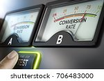 finger about to press a button... | Shutterstock . vector #706483000