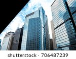 commercial building in hong... | Shutterstock . vector #706487239