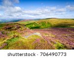 Small photo of Summer on the top of Higger Tor near Sheffield in the Derbyshire Peak District, looking over to Callow Bank