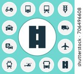 transportation icons set.... | Shutterstock .eps vector #706496608