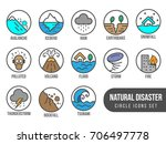 natural disaster basic circle... | Shutterstock .eps vector #706497778