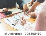 business meeting businessmen... | Shutterstock . vector #706500490