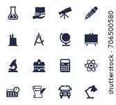set of 16 school icons set... | Shutterstock .eps vector #706500580