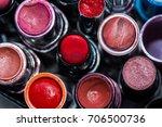 used lipstick of women. | Shutterstock . vector #706500736