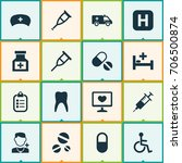 drug icons set. collection of... | Shutterstock .eps vector #706500874