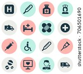 medicine icons set. collection... | Shutterstock .eps vector #706501690