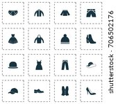 garment icons set. collection... | Shutterstock .eps vector #706502176