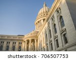 capitol building in madison ... | Shutterstock . vector #706507753