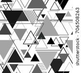 abstract background triangle... | Shutterstock . vector #706508263